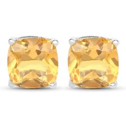 5.80 Carat Genuine Citrine .925 Sterling Silver Earrings