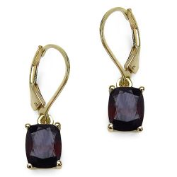 14K Yellow Gold Plated 5.44 Carat Genuine Garnet Sterling Silver Earrings