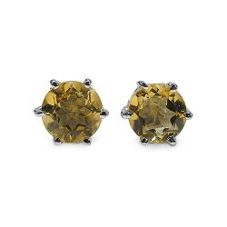 1.54 Carat Genuine Citrine .925 Sterling Silver Earrings