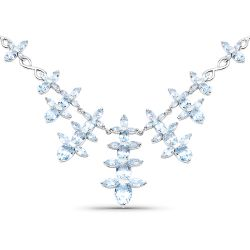 25.15 Carat Genuine Blue Topaz .925 Sterling Silver Necklace