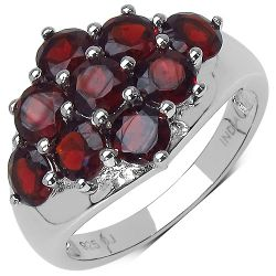 2.88 Carat Genuine Garnet Sterling Silver Ring