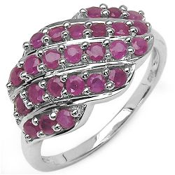 1.18 Carat Genuine Ruby .925 Sterling Silver Ring