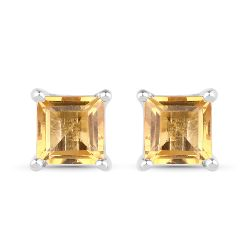 0.72 Carat Genuine Citrine .925 Sterling Silver Earrings