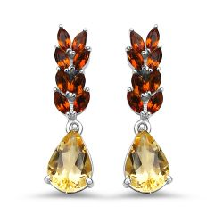 4.04 Carat Genuine Citrine .925 Sterling Silver Earrings