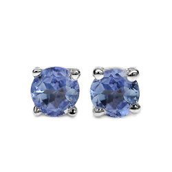 0.20 Carat Genuine Tanzanite .925 Sterling Silver Earrings