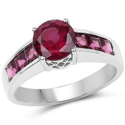 2.58 Carat Genuine Garnet .925 Sterling Silver Ring