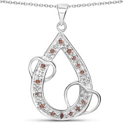0.18 Carat Genuine Red Diamond .925 Sterling Silver Pendant
