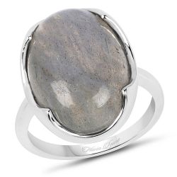 9.44 Carat Genuine Labradorite .925 Sterling Silver Ring
