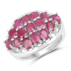 3.00 Carat Genuine Ruby .925 Sterling Silver Ring