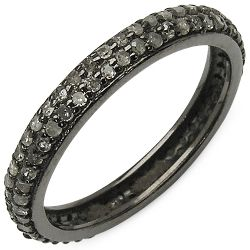 0.67 Carat Genuine TLB Diamond .925 Sterling Silver Ring